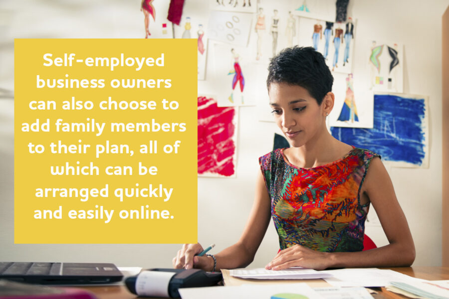 Free private health insurance and support for the self-employed