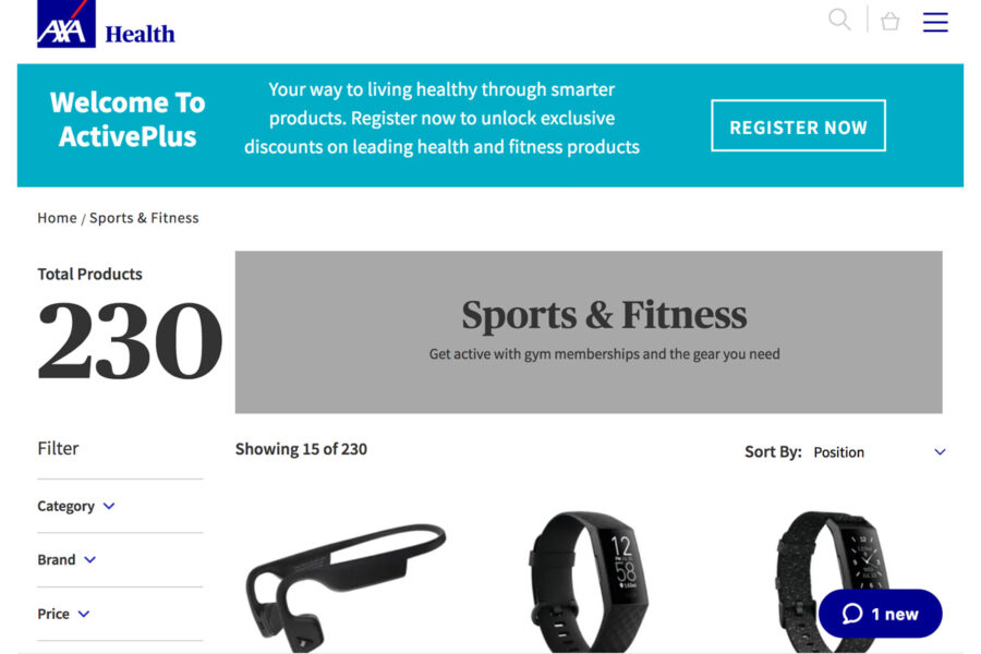AXA ActivePlus perks for all Equipsme members